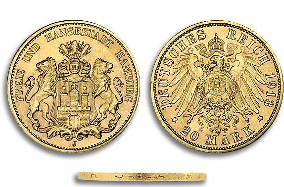 achat et vente piece 20-ReichMark-or